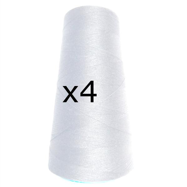 Fil à coudre 2500 mts x4 - blanc