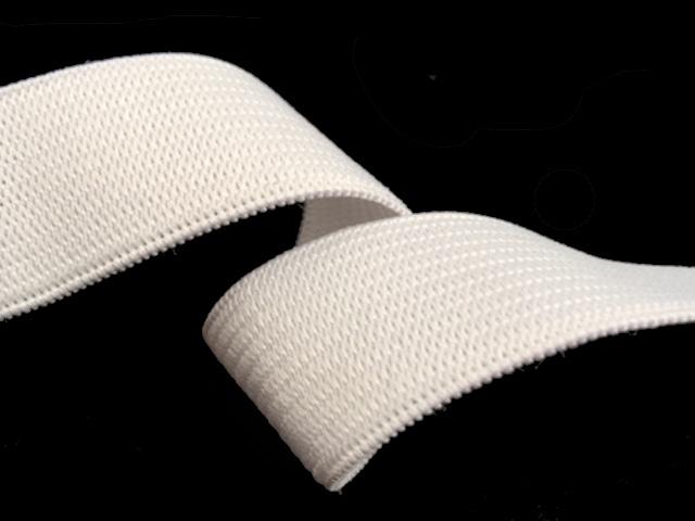 Élastique souple 25 mm blanc