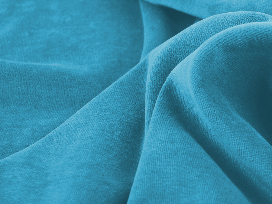 Velours nicky - turquoise