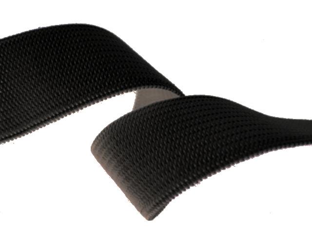 Élastique souple 25 mm noir