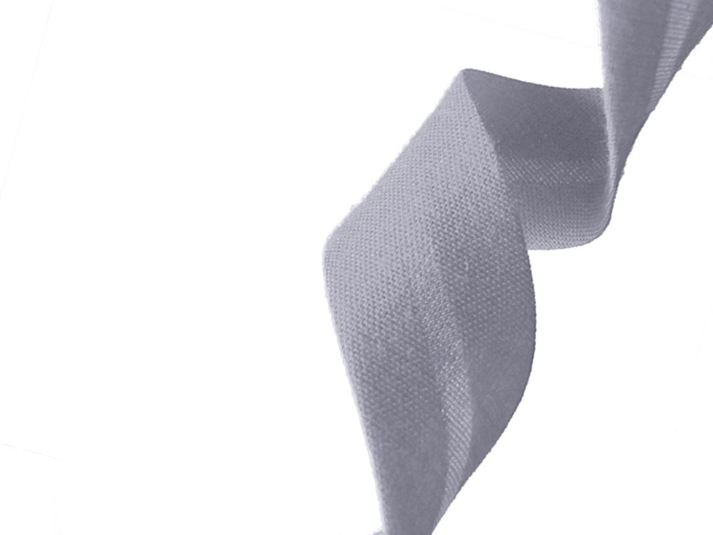 biais polycoton - gris